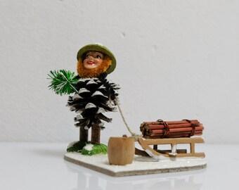 Cone Gnomes Dwarfs Handmade Folk Art Ore Mountains 6