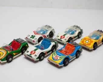 6 x DDR car tin car toy gdr race car