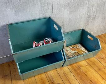 Set of 3 Sight Boxes Storage Box Shelf Chute Box Metal Boxes Industrial 2