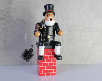 Smoker Smoker Chimney Sweep Essenkehrer Wooden Figure Figure Erzgebirge GDR