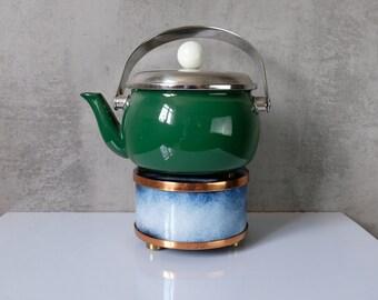 Stövchen enamel tea coffee 60s GDR