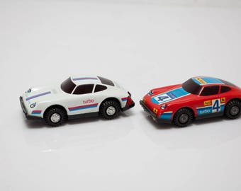 2 x DDR car tin car toy gdr racing car Porsche