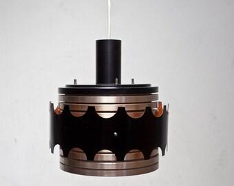 Design hanging lamp lamp 80er lamp DDR Lamp GDR copper colored 8