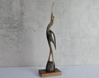 Crane Horn Animal Bird Mid Century Figure Stork Danish Design GDR