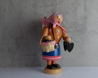 Smoker Smoker Smoker Witch Wooden Figure Figure Erzgebirge GDR 9