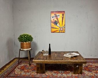 Table Side Table Industrial Beech Loft Shelf