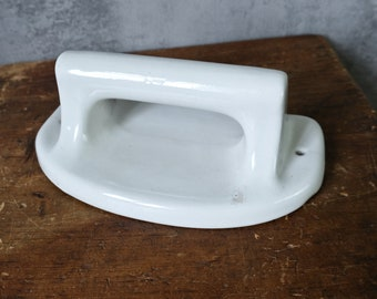 Porcelain / ceramic handle holder handuch holder bathroom kücher old hook vintage handle