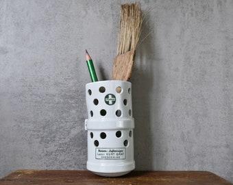 Wall holder vessel upcycling porcelain 30s vase old measuring cup box