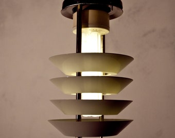 Design pendant lamp metal lamp 70s GDR Lamp Danish