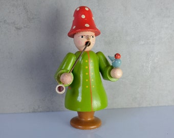 Smoker Smoker Wooden Figure Figure Erzgebirge 50s