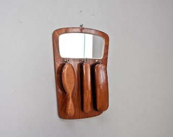 Clothes brushes set mirror GDR 60s mural