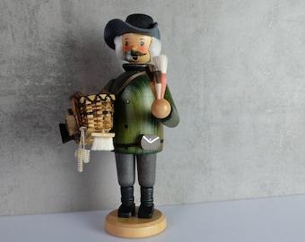 Smoker Brush Man Smoker Wooden Figure Figure Erzgebirge