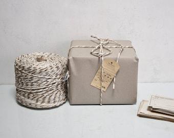 2.2kg Cord Knitting DDR Gdr Wrap Twine Tie Dye Brown / White