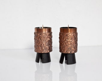2 small candle holders 70s candlesticks Made GDR
