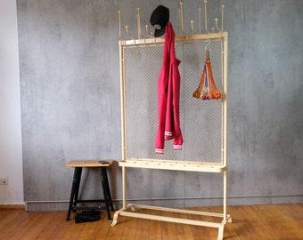 Wardrobe Coat Hook Ballroom Room Divider 40s Iron Industrial 2