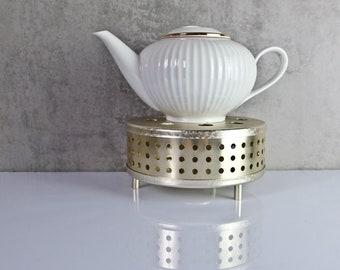 Stövchen Tee Kaffee 60er JAHRE GDR Aluminium 3