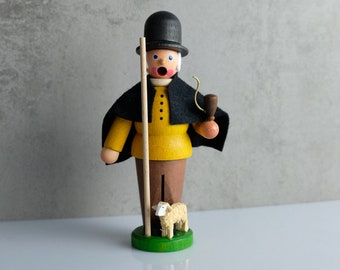 Shepherd small smoker smoker wooden figure figure Erzgebirge dregeno