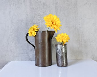 2 Cup Measuring Cup Measuring Cup Container Cans Vessels old Upcycling industrial Vase Pens Box 2
