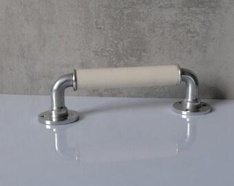 Alu Handle Holder Handholder Bathroom Kitchener Old Hook Vintage Handle 1
