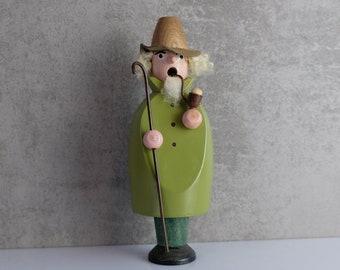 Smoker Smoker Shepherd Wooden Figure Figure Erzgebirge GDR