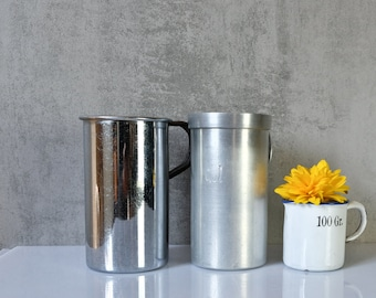 3 different cups Measuring cup Measuring cup Container Cans Vessels old Upcycling industrial vase Pens Box