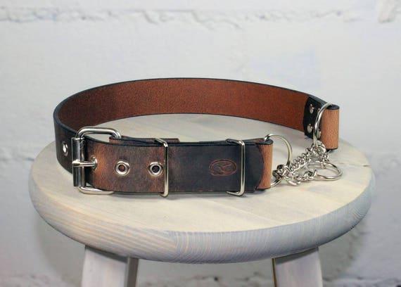 "Big Dog 1.5/"" Leather Dog Collar"