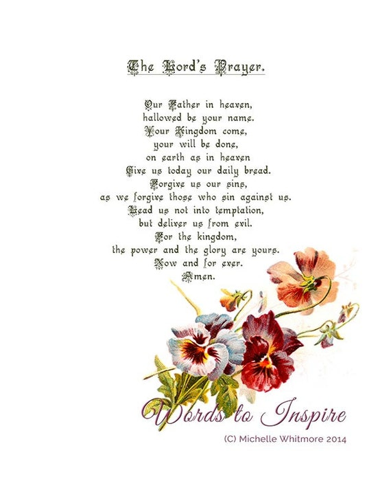 picture relating to Lord's Prayer Sign Language Printable titled The Lords Prayer, Ground breaking model (Matthew 6: 9-13). Printable Bible Scripture Case in point - electronic PDF history