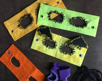 A Rainbow of Colored Bearded Dragon Harnesses!