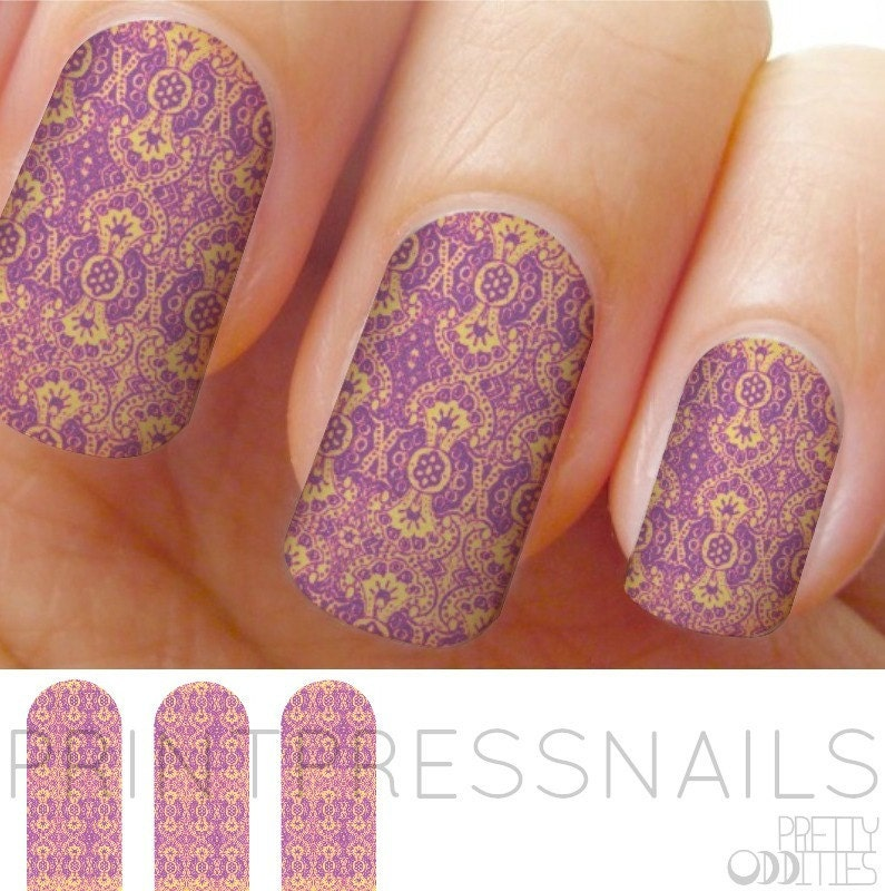 Nail Wraps, Full Nail Stickers, Nail Decal, Nail Stickers Pink ...