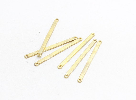 Bar Pendant 3x60mm Raw Brass Bars PND33 Bar Necklace Raw Brass Findings Long Bar Connectors Brass Jewelry Necklace Pendant