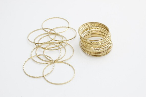 Raw Brass Hoops CC Round Connector Raw Brass Findings 16mm Raw Brass Closed Ring CHK118 Circle Connector Connectors
