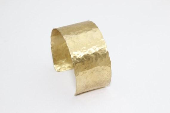 Cuff Bangle 15x160mm Raw Brass Hammared Bangle RAW310 Hammared Cuff Bracelet