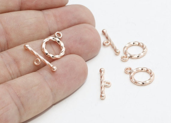 10//100Sets Silver Plated Toggle Clasp Pattern Ring Round Clasps For Bracelets