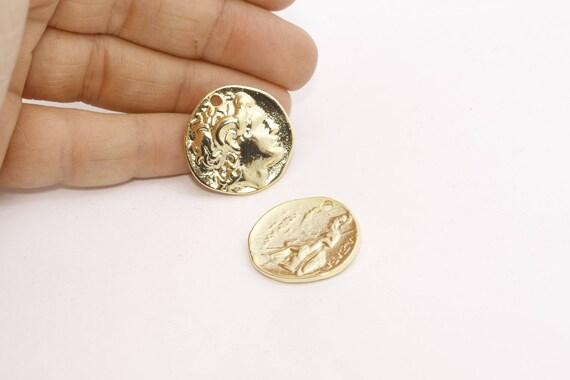 24 K Glänzend Gold Griechische Münzen Antike Griechische Etsy