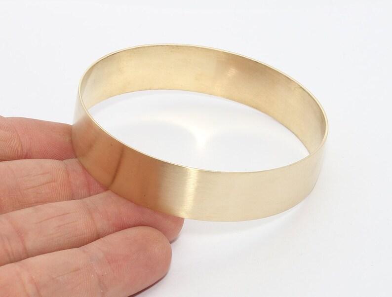 Raw Brass Domed Bracelet 5 Pcs 15mm Raw Brass Bracelet Flat Bracebet Bangle Raw Brass Bracelet Bangle Flat Domed Bracelet