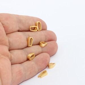 8pcs--antiqued brass bails necklace finding pendant holder pendant connector