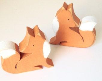 Little wooden fox