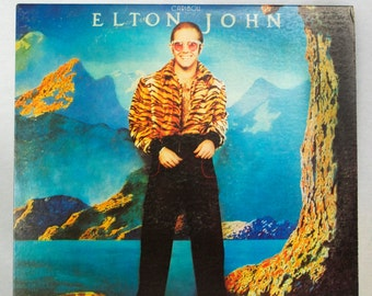 Elton John - Caribou Album MCA/Island Records 1974 Original Vintage Vinyl Classic Rock Pop Record LP