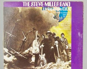 The Steve Miller Band Living In The U.S.A. 1973 Capitol Records Original Vintage Vinyl Record Album LP