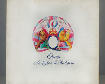 Queen A Night At The Opera 1975 EMI Records Original Classic Rock Vintage Vinyl Record LP