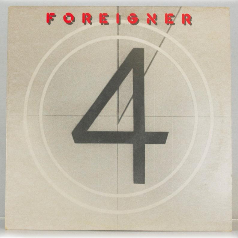 Foreigner - 4 Album Atlantic Records 1981 Original Vintage Vinyl Record LP  1980s 80s Rock Music Gift