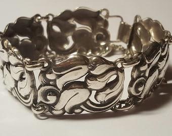 Vintage Scandinavian Style Sterling Bracelet Circa 1930's