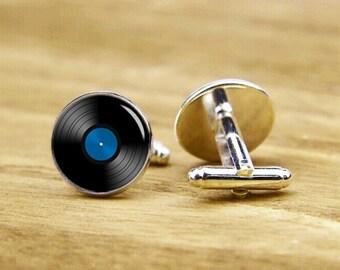 record cuffLinks, vinyl record cufflinks, wedding cufflinks, custom musical cufflinks, personalized cufflinks, tie clip or a matching set,