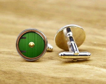 Door Cufflinks, custom wedding cufflinks, door cuff links, personalized cufflinks, round glass, square cufflinks, tie clip or a matching set