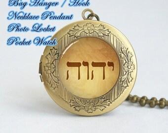 custom tetragrammaton photo locket pendant, tetragrammaton symbol necklace locket pendant locket, picture locket necklace, god jesus pendant