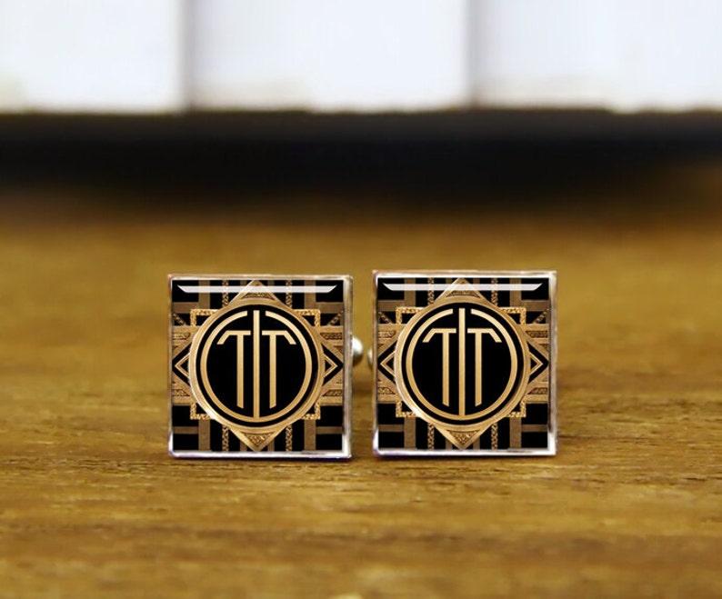 Monogram Cufflinks Personalized Wedding Gifts Initials Cufflinks Groomsmen Gift Round Or Square Cufflinks /& Tie Clips Groom 2 Letters