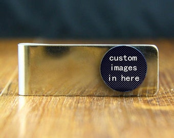 custom image money clip, custom any text or photo money clips, personalized money clip, best friend gifts, customized money clip, groom gift