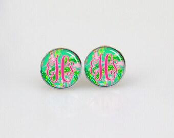 Monogram Stud Earrings, Initial Earrings, Custom Initials Earrings, Post Stud Earrings, Stud Earings, Minimalist Earrings, Trending Earrings