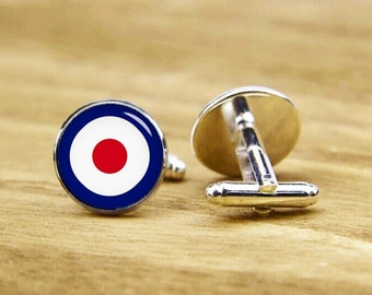 mod target cufflinks, personalized cufflinks, custom photo cufflinks, custom wedding cufflinks, round, square cufflinks, tie clips, or set