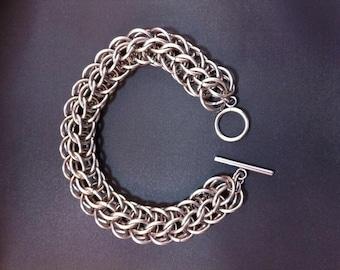 Stainless Steel Full Persian Men's or Women's Chunky Chain Maille Bracelet